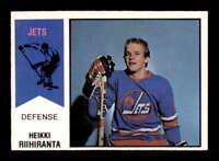 1974 O-Pee-Chee WHA #31 Heikki Riihiranta RC NM X1510412