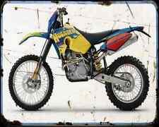 Husaberg Fe 550 07 A4 Metal Sign Motorbike Vintage Aged