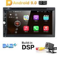 "7"" 2Din Android 9.0 Car Stereo DVD GPS WiFi OBD2 Head unit Radio DAB+ Camera DVR"