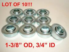 "QTY. 10, FLANGED BEARINGS 1-3/8"" OD, 3/4"" ID, 4X4, GO KARTS, CARTS, OUTDOOR TOYS"