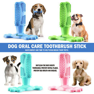 Pet Dog Toothbrush Toy Clean Teeth Brushing Stick Mouth Chewing Clean Care Gums