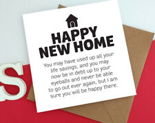 HAPPY NEW HOME debt moving house mortgage comedy funny naughty cheeky card p15