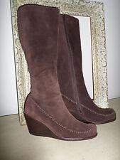 Aerosoles Brown Suede Wedge Knee High Boot. Women's Size 8