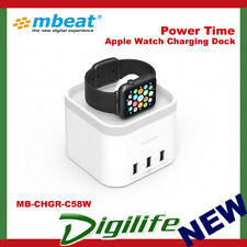 Mbeat Power Time Apple Watch Charging Dock With 3 Extra Smart Charging Ports