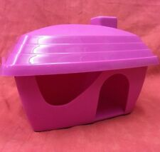 Hamster Dwarf Hamster Gerbil Mouse PINK Plastic House 6 Inches bright colouful