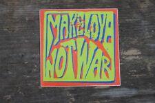 "Vintage Make Love Not War 2000 Peace Hippie Rock Band Sticker 3"" x 3"" +"