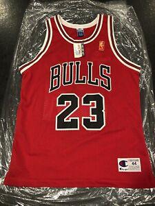 Michael Jordan 23 Champion Bulls Auth Jersey 96 Gold 50th Anniversary New W/ Tag