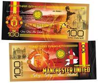 ✔ Russland Souvenir banknote 100 rubles 2019 Manchester United UNC