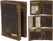 Designer UOMINI portemonnee in pelle in marrone scuro formato verticale