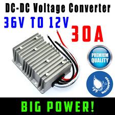 36V to 12V DC Converter 30A Waterproof Voltage Reducer 360W Golf Cart Solar