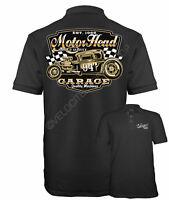 Velocitee Mens Polo Shirt Motorhead Garage Classic Ford 5 Window Hotrod W20510