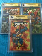 Superman/Doomsday #1 2 3 set - DC - CGC SS 9.8 - Signed by Jurgens, Breeding