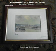 More details for 2 x vintage  signed prints:kinsale & blarney castle by michael f.downes.ah5382