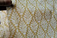 Indian Handmade Natural Hand Block Printed 2.5 Yard Sanganeri Cotton Fabric **