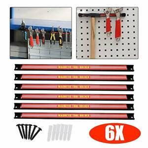 "6x18"" Storage Holder Rack Garage Wall Heavy Duty Magnetic Tool Bar Holder Strips"
