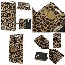 Leopard Geldbörse Leder Tasche für LG G3 D850 D855 LS990 mit Standfunktion Etui