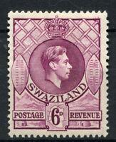 Swaziland 1938-54 KGVI SG#34, 6d Deep Magenta P13.5x13 MH #A62353