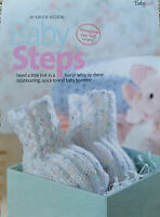 KNITTING PATTERN Baby Bootees Boot Ribbed Design Mock Cable Robin PATTERN