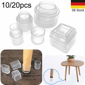 10pcs Stuhlbein Kappen Fußkappen Möbel Tisch Abdeckungen Gummifüße Möbelgleiter