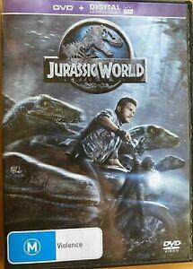 Jurassic World DVD + DIGITAL ULTRAVIOLET -2015 Chris Pratt Action Dinosaur Movie