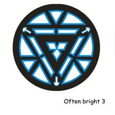 IRON MAN Tony Stark Light-Up Shining LED Black T-Shirt Cool Tee In Stock