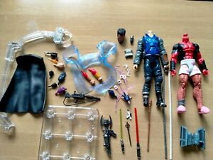 Marvel Legends Fodder Bits For Customising Heads Weapons Effects Flight Stand