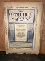 THE CONNECTICUT QUARTERLY March-April 1901 ILLUSTRATED MAGAZINE.