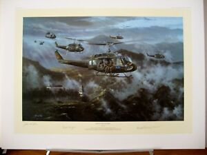 Ride of the Valkyries UH-1 Huey Simon Atack Mike Novosel MOH Signed Aviation Art