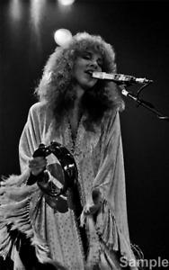 Stevie Nicks, Fleetwood Mac Black & White Music Photo Print Picture