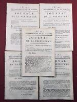 Sarthe 1805 Rare Lot Journal de la préfecture Le Mans Napoléon Auvray Mamers