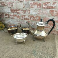 Cheltenham Sheffield England 7239 Plate Four Pieces Coffee Pot Tea Pot