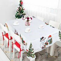 Waterproof Christmas Tablecloth Rectangular Table Cloth Cover Decor for Home