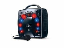 Karaoke Singing Machine Portable 3 CDG Player Party Microphone Disco Light