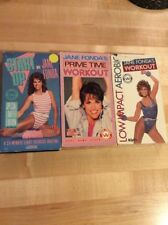 Lot Of 3 Jane Fonda VHS Workout Videos - Start Up - Low Impact - Prime Time