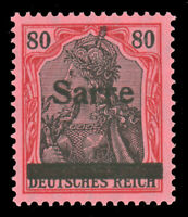 Saar #16 MNH CV$525.00 1920 80pf LAKE & BLACK ON ROSE [Signed Dub/Burger]