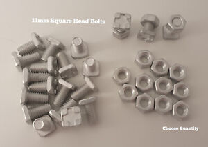 Greenhouse Accessories Greenhouse Bolts 11mm SQUARE Head Bolts And Nuts