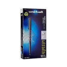 12 - UNI-BALL ONYX Pens - Fine 0.7mm Rollerball - BLACK INK - uniball