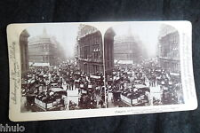 STB516 Cheapside Centre Commercial du monde London England photo STEREO albumen