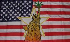 Fahne Flagge USA Liberty Marihuana 90 x 150 cm
