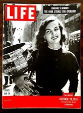 LIFE Magazine 1951 October 29 USC FOOTBALL YALE JUDY GARLAND COMES BACK No label