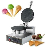 Commercial Electric Nonstick Ice Cream Waffle Cone Baker Maker Machine Adjustabl