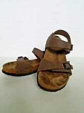 Birkis Sandals Birkenstock 260 US L9 M7 Brown Two Strap Slingback with Buckles