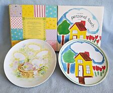 2 Vtg 1982 Avon Children'S/ Baby Plates Personal Touch & Sweet Dreams Keepsake