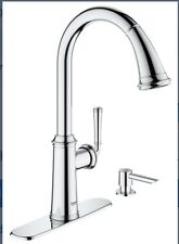Kitchen Faucet Grohe Pull Down Wth Soap Dispenser Chrome 30318000 Gloucester