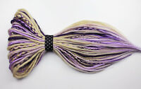 Blonde & Lavender Mix Synthetic Dreads, 20 Inches, Double & Single Ended