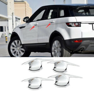 For Range Rover Evoque 2012-2019 Chrome Exterior Side Door Bowl Cover Trim 4pcs