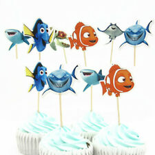 24pcs Cartoon Finding Nemo Series Cupcake Topper Picks Birthday Party Supplies