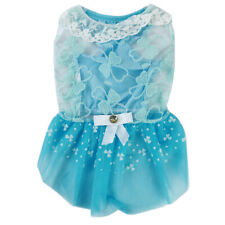 Princess Lace Dress Clothes Outfits Small Party Summer Dog Cosplay Pet Skirt HD