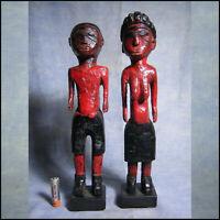 AFRICANTIC COUPLE COLON BAOULE BAULE RCI ART AFRICAIN ANCIEN STATUE  AFRICAINE