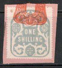 La Reina Victoria - 1s Azul ingresos en papel-enero de 1899